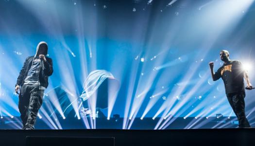 Eminem Joins Drake On Stage in Detroit